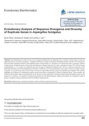 Evolutionary Bioinformatics evolutionary Analysis of sequence ...