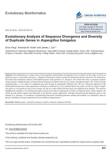 Evolutionary Bioinformatics evolutionary Analysis of sequence ...