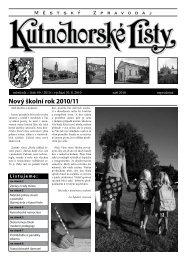 Nový školní rok 2010/11 - Kutná Hora