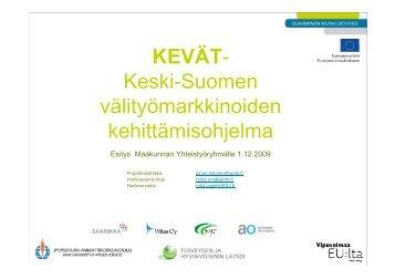 KEVÄT - Keski-Suomen liitto