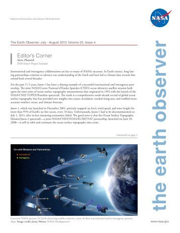 the earth observer - NASA's Earth Observing System