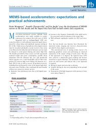 MEMS‑based accelerometers: expectations and practical ... - Sercel
