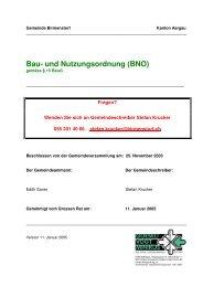 Bau- und Nutzungsordnung (BNO) - Gemeinde Birmenstorf