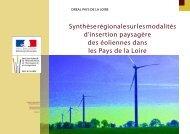 Synthèse régionale sur les modalités d'insertion paysagère des ...
