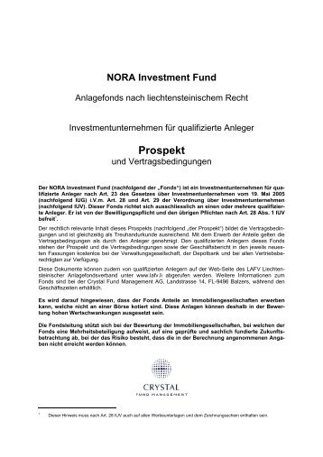 Prospekt - Crystal Fund Management AG