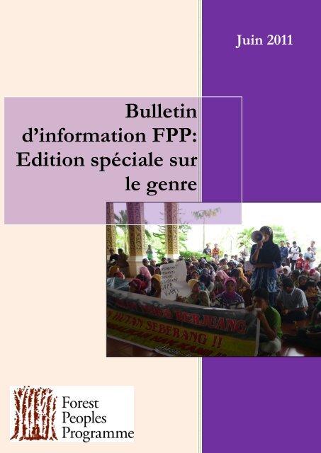 Bulletin d'information FPP: Edition spéciale sur le genre