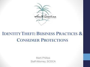 Identity Theft - SC Consumer Affairs