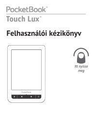 Felhasználói kézikönyv Touch Lux - PocketBook