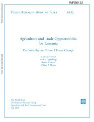 Agriculture and Trade Opportunities for Tanzania