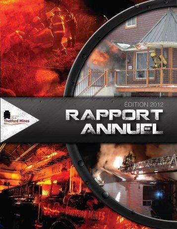 Consultez le Rapport annuel 2012 - Ville de Thetford Mines