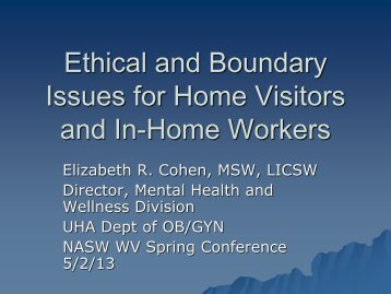 D 10 Cohen Ethical and Boundary Issues for Home Visitors