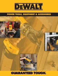 POWER TOOLS, EQUIPMENT & ACCESSORIES