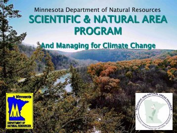 SCIENTIFIC & NATURAL AREA PROGRAM