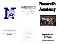 Brochure of Frequent Questions 09 10 - Nazareth Academy