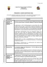 FAQ terre e rocce da scavo - 17 agosto 2009 - Agenzia provinciale ...