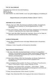 Abgeschlossene und laufende Arbeiten (Stand 11/2011)