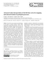 Advanced radar-interpretation of InSAR time series for mapping and ...