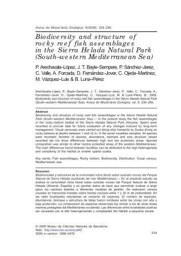 Arechavala 2008 Rocky fish biodiversity sierra helada