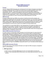 Executive Summary-National EMS Assessment - NHTSA EMS