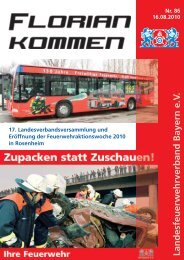 Ausgabe Nummer 86 - Landesfeuerwehrverband Bayern