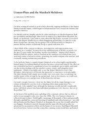 Uranus-Pluto and the Murdoch Meltdown - Bill Herbst, astrologer