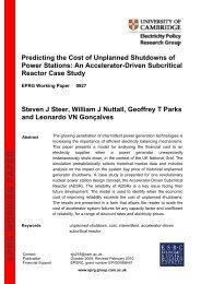 an accelerator-driven subcritical reactor case study - Electricity ...