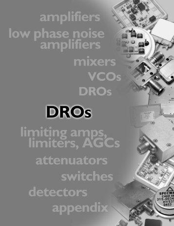 DRO Databook - Spectrum Microwave by API Technologies
