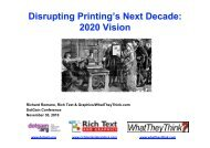 Richard Romano, Rich Text & Graphics/WhatTheyThink.com ... - Ipex