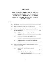 section 6 space-fixed position, velocity, and ... - DESCANSO