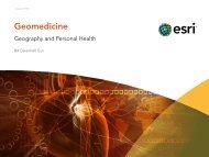 Geomedicine: Geography and Personal Health - Esri