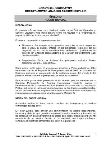 Poder Judicial - Asamblea Legislativa