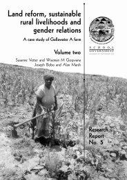 Land reform, sustainable rural livelihoods and gender relations