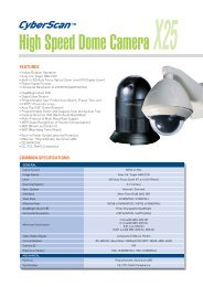 High Speed Dome Camera X25 - Zone Technology