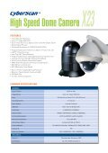 High Speed Dome Camera X25 - Zone Technology - Page 3