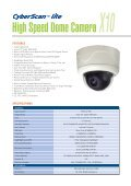 High Speed Dome Camera X25 - Zone Technology - Page 5