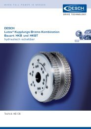 DESCH Lutex®-Kupplungs-Brems-Kombination ... - Radius Radpol
