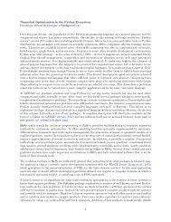 Numerical Optimization in the Python Ecosystem Dominique ... - gerad