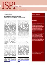 """Abstract Russia's New Security Doctrine: """"Security through ... - Ispi"""