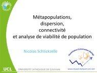 Métapopulations, dispersion, connectivité, et analyse de ... - Natagora