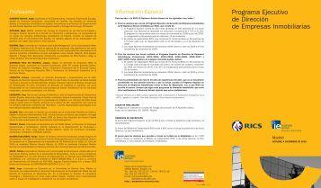 PE RICS - IE Executive Education