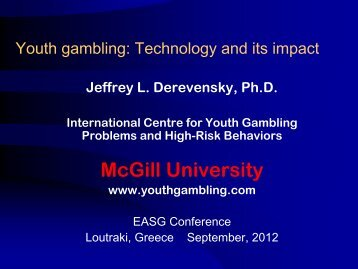 Youth gambling: Technology and its impact - European Association ...