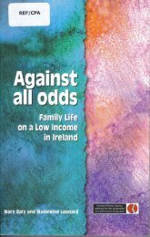 Against All Odds: family life on a low income - Combat Poverty Agency