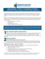 Making the Connection - Washington Suburban Sanitary Commission