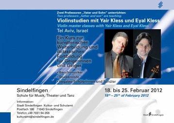 18. bis 25. Februar 2012 Sindelfingen - bei der Stadt Sindelfingen