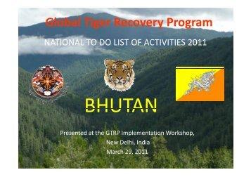 Bhutan - Global Tiger Initiative
