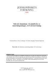 Stål och Aluminium - En jämförelse av ... - Jernkontoret