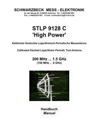 STLP 9128 C 'High Power' - Schwarzbeck - Mess-Elektronik