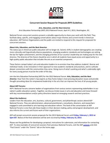 Concurrent Session Request for Proposals (RFP) Guidelines