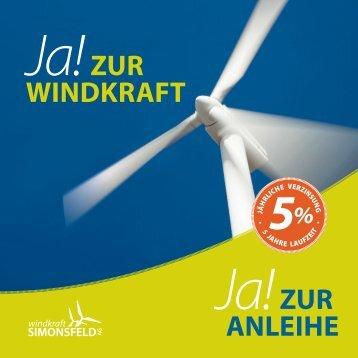 Windkraft anleihe - Windkraft Simonsfeld