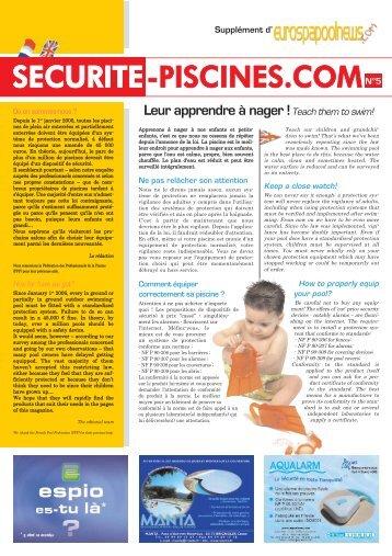 SECURITE-PISCINES.COMN°5 - Eurospapoolnews.com